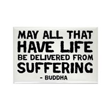 Quote - Buddha - Delivered fr Rectangle Magnet