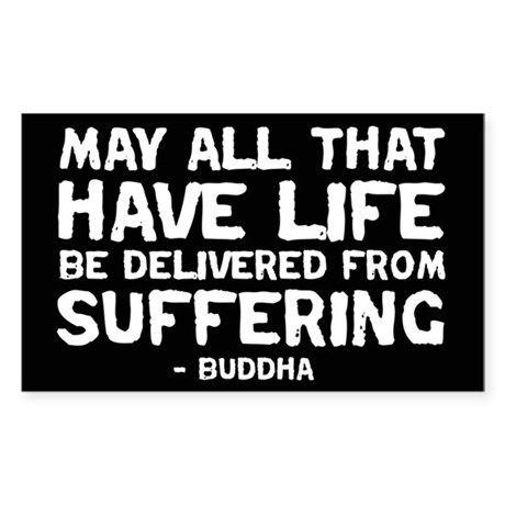Quote - Buddha - Delivered fr Rectangle Sticker