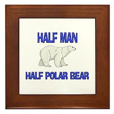 Half Man Half Polar Bear Framed Tile