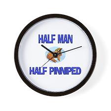 Half Man Half Pine Marten Wall Clock