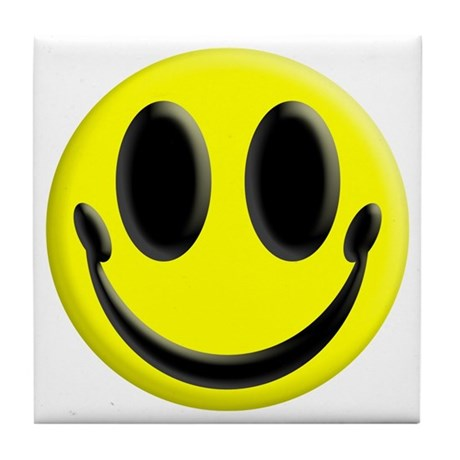 Smiley Face Tile Coaster