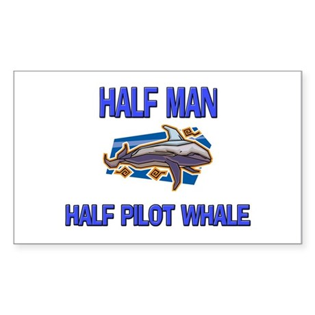 Half Man Half Pilot Whale Rectangle Sticker