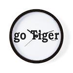 go Tiger Wall Clock