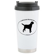 Labrador Oval Text Travel Mug