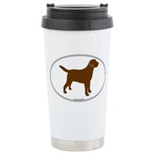 Chocolate Lab Outline Travel Mug