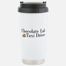 Chocolate Lab Taxi Travel Mug