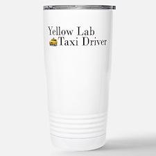 Yellow Lab Taxi Travel Mug