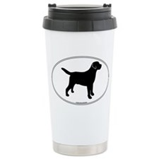 Black Lab Outline Travel Coffee Mug