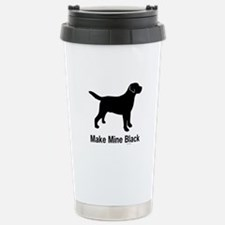 Make Mine Black Stainless Steel Travel Mug