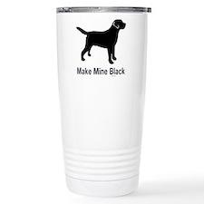 Make Mine Black Travel Mug