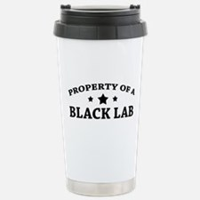 Property of a Black Lab Stainless Steel Travel Mug