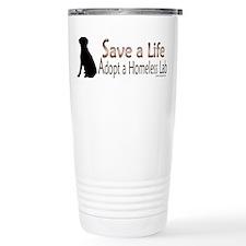 Adopt Homeless Lab Travel Mug