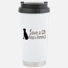 Adopt Homeless Lab Travel Mug