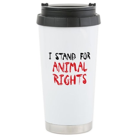 Animal Rights Stainless Steel Travel Mug