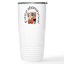Symbols of Halloween (Gaelic) Travel Mug
