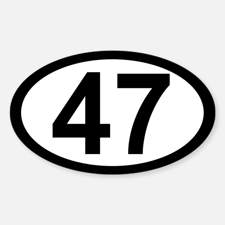 47 Oval Decal