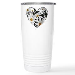 Daisy Heart Travel Mug