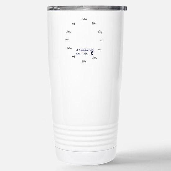 Triathletes Clock Stainless Steel Travel Mug