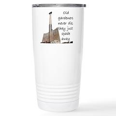 Old gardeners spade away Travel Mug