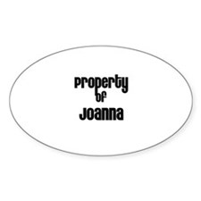 Property of Joanna Oval Decal