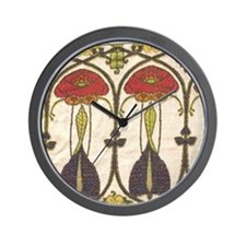 Tart Nouveau Deep Rouge Clock
