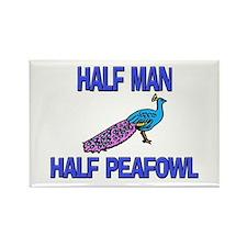 Half Man Half Peafowl Rectangle Magnet
