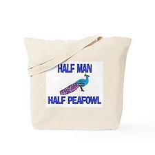 Half Man Half Peafowl Tote Bag