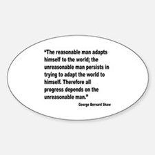 Shaw Progress Quote Oval Decal