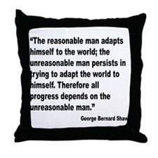 Shaw Progress Quote Throw Pillow