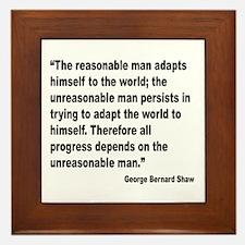 Shaw Progress Quote Framed Tile