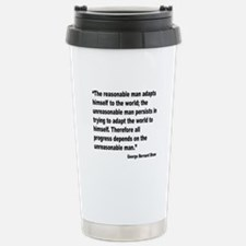 Shaw Progress Quote Travel Mug