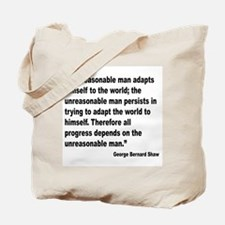 Shaw Progress Quote Tote Bag