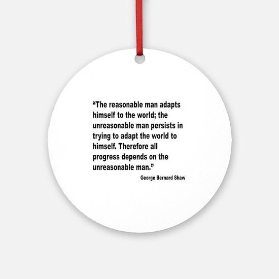 Shaw Progress Quote Ornament (Round)