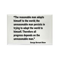 Shaw Progress Quote Rectangle Magnet
