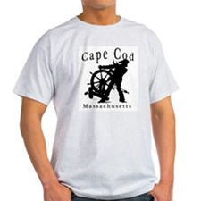 Cape Cod Sea Captain Ash Grey T-Shirt