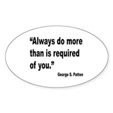 Patton Do More Quote Oval Decal