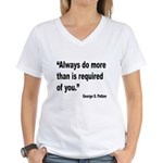Patton Do More Quote (Front) Women's V-Neck T-Shir
