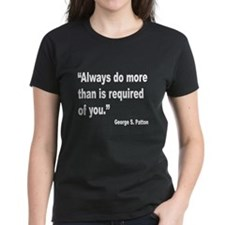 Patton Do More Quote (Front) Tee