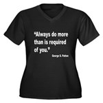 Patton Do More Quote (Front) Women's Plus Size V-N