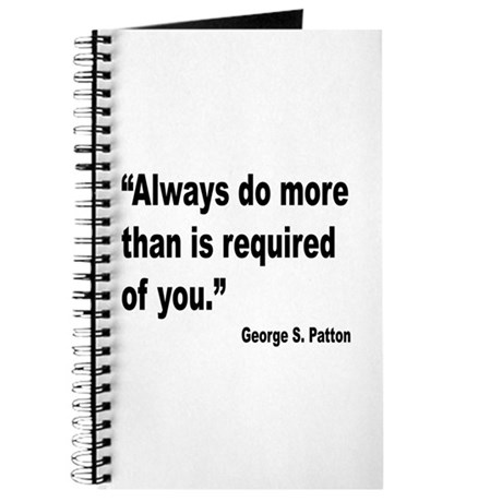 Patton Do More Quote Journal