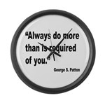 Patton Do More Quote Large Wall Clock