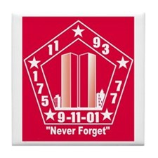 9/11 Memorial Tile Coaster