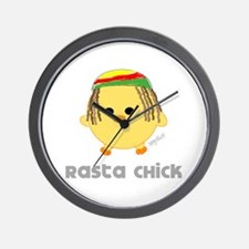 Rasta Chick Wall Clock
