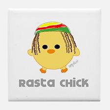 Rasta Chick Tile Coaster
