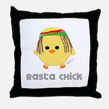 Rasta Chick Throw Pillow