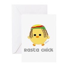 Rasta Chick Greeting Cards (Pk of 20)