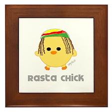 Rasta Chick Framed Tile