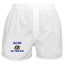 Half Man Half Panda Bear Boxer Shorts