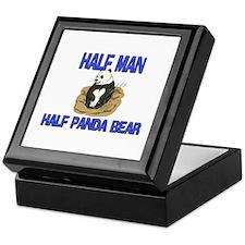 Half Man Half Panda Bear Keepsake Box