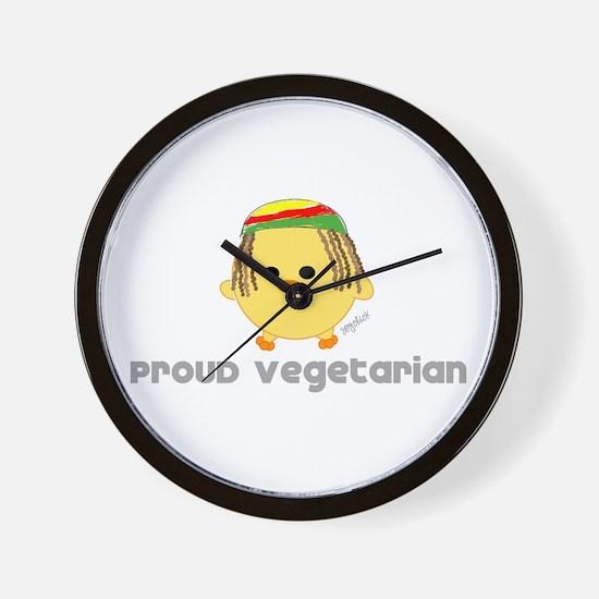 Proud Rasta Vegetarian Wall Clock